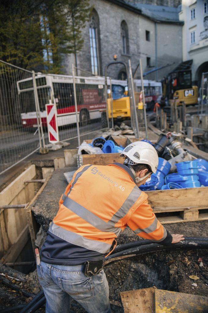Grabungsarbeiten in der Salzburger Altstadt (C) Riebler